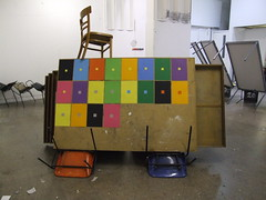 plan chest, chairs and colour