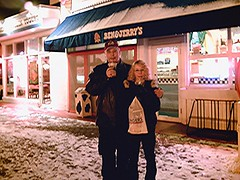 John and Annissa at Ben & Jerry's
