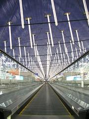 Shanghai Airport (silverlinedwinnebago) Tags: china light architecture moving belt airport shanghai walk interior chinese perspective january machine ceiling conveyer 2007 favesarnd