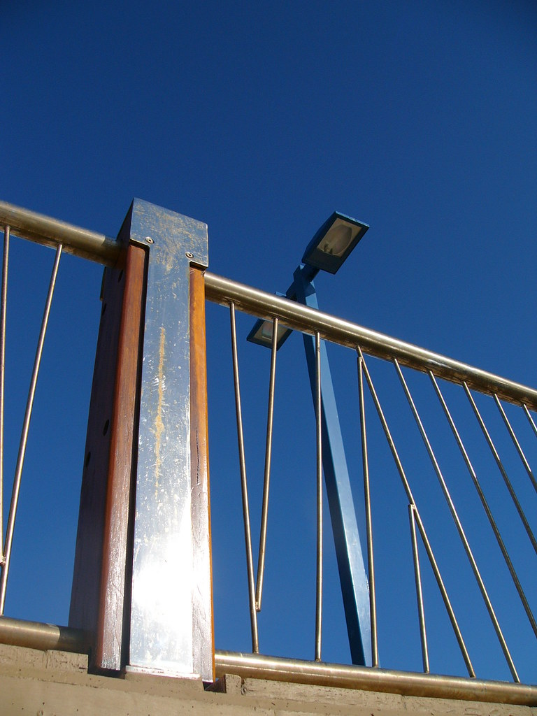Outdoor Light and Handrail