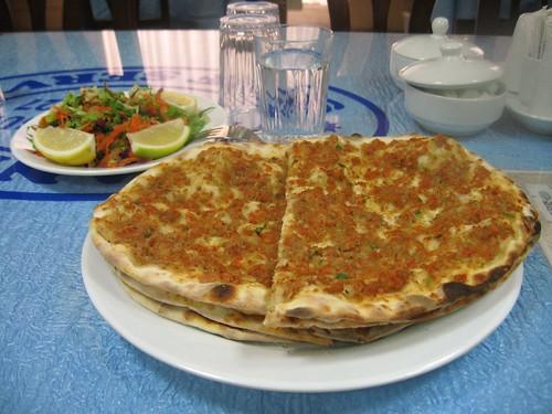 Lahmajun - a Turkish delecacy (Erzurum, Turkey)