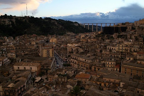 Modica and its enormous bridge