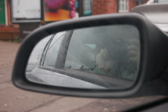 Self portrait (historyanorak) Tags: selfportrait reflection me car mirror birmingham bokeh differentviewpoint historyanorak thehistoryanorak kevscar