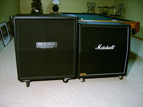 Marshall 1960AV VS Mesa Rectifier Cab | MarshallForum.com