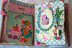 Entry into Dariannes baby book......... (fleamarketstudio) Tags: pictures flowers art collage vintage scrapbooking diary collageart crafty artjournal alteredart thrifty homelife shabbychic mixedmediaart
