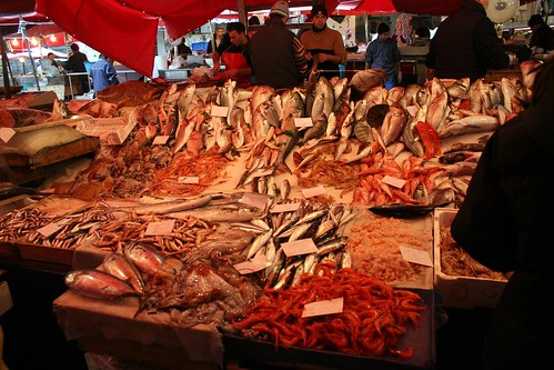 Stand at the Catania fish market