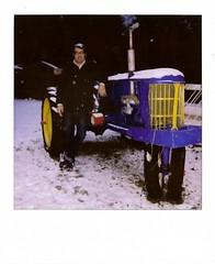 Brett and Old Blue ~ Discovery Bay, WA ~ January 13, 2007 (brettbigb) Tags: old trip blue vacation holiday snow tractor color yellow polaroid washington jan weekend january brett wash 600 wa polaroids peninsula discoverybay mlk polaroid600 goodtimes weekender 2007 moana regular polaroidone one600 oldblue rockeries revmartinlutherkingjr saywa itmustbelove eaglemount polaroidone600 january132007 eaglemountrockeries savepolaroid savepolaroids