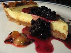 Key Lime Pie with Blueberry Compote