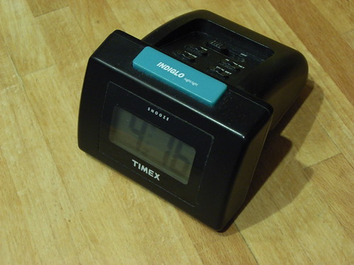Indiglo alarm clock
