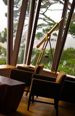 The Lookout (disneymike) Tags: california door trees window nikon view chairs d2x telescope tables carmel hyatt parkhyatt nikkor highlandsinn carmelhighlands 50mmf14d