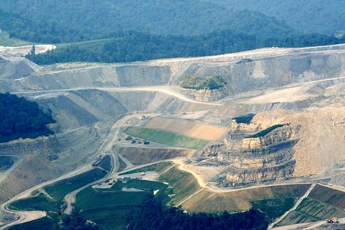 Aerial photo of Glen Alum Mountain, photo by Kent Kessinger