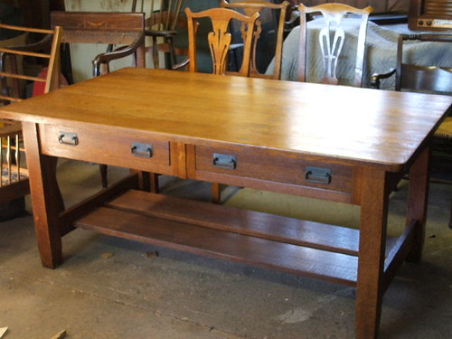 Restored Arts & Crafts desk