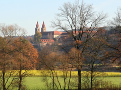 the former Benedictine monastery Reichenbach - view (rotraud_71) Tags: trees buildings germany bavaria towers meadows bluesky monastery baroque barock oberpfalz reichenbach established1118