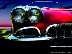 Sunset Vette (kenmojr) Tags: auto chevrolet classiccar antique chevy hotrod corvette vette streetrod musclecar 1960 c1 chev anawesomeshot krm kenmojr