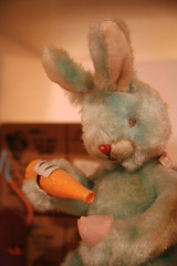 Bunny Is Hooked on the Carrot Juice - by Laughing Squid