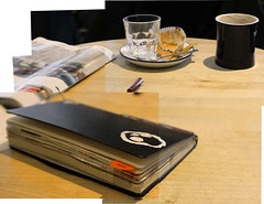 680 (Ms L) Tags: moleskine coffee finland paper cafe helsinki diary journal waynescoffee panography kahvila mealmole