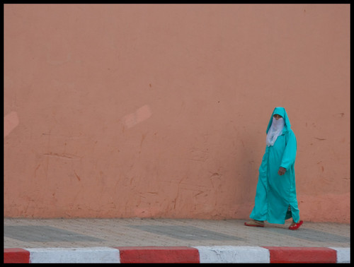 Woman walking in Marrakesh - Morocco