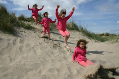 Poppy the quadruplet (macpuppy) Tags: beach 2004 st wow scotland jumping andrews poppy