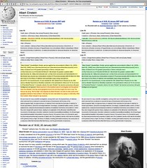 Sample Vandalism on Einstein WikiPedia page por Wesley Fryer