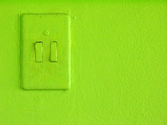 Go Green (EltonHarding) Tags: light 2 two colour green topf25 electric composition screw switch screws interestingness interesting paint flickr neon apartment duo 100v10f off double clean explore textures simplicity fabulous tones impressive luscious solid cotcmostfavorited explored abigfave top20green 08090039 exlpore150 tiltebh