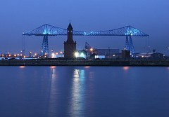 Feeling blue (~Glen B~) Tags: uk england nikond70 dusk cleveland middlesbrough teesside transporterbridge tamron28300mm bbok satelliteportfolio bbcbritaininpictures redbubble:id=2455341feelingblue
