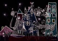 La nuit. (Parfums de Violette) Tags: art photo image culture dessin peinture tradition affiche artiste peintre musicien rupestre vniel