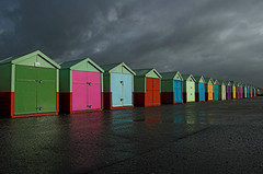 Beach huts (Alex Bamford) Tags: england storm beach rain clouds sussex brighton colours quality hove explore esplanade beachhut seafront eastsussex peopleschoice interestingness325 explored i500 impressedbeauty superaplus aplusphoto goldenphotographer flickrdiamond alexbamford thebigbambooly wwwalexbamfordcom