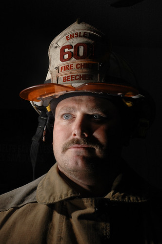 Chief Brandon Beecher of the Ensley Volunteer Fire Department