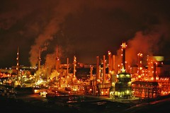 The end of days. (4PIZON) Tags: money night smog smoke air d8 petrol profit refinery fuel polution 4pizon