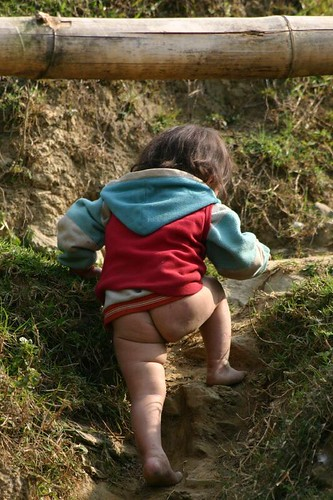 Diapers don't really exist around here!