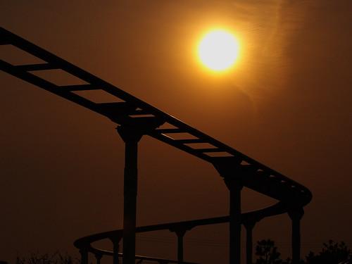 曇り、夕日 2
