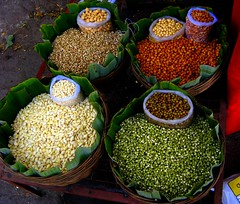live-food (shubhangi athalye) Tags: street red food india white color green shop colorful market indian diversity vegetable bombay vegetarian maharashtra bazaar mumbai sprouts chana pulses biodiversity protien chickpeas vendors chole dukan moong vaal matki powerpacked kaddhanya