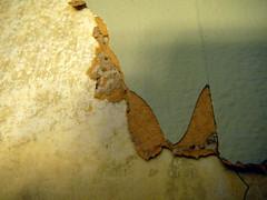 Paint paper plaster detail