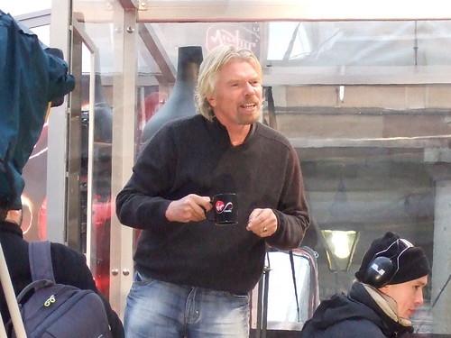 Richard Branson in Covent Garden