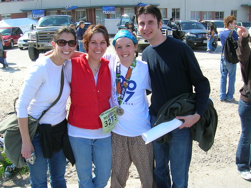 Best cheerers ever and me after marathon
