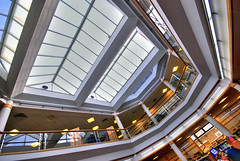 022207 Weymouth Library, looking up (petervanallen) Tags: architecture distorted library skylight wideangle weymouth flickrchallengegroup