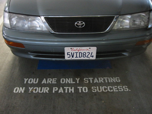 our fortune at the North Beach Parking Garage, San Francisco
