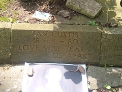 Ian Curtis's graveside 5/18/04
