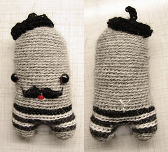 (sandra juto) Tags: alpaca mouth happy eyes handmade stripes crochet moustache buttcrack softie plushie taxidriver beret asscrack bumcrack