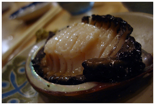 Sasabune Abalone with yuzu pepper sauce