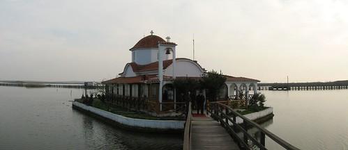 Monastery near Lake Vistonidas, Greece