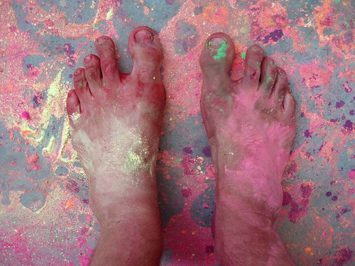 My feet during holi festival