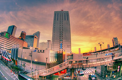 Sunset on Osaka (The Other Martin Tenbones) Tags: sunset japan osaka kansai umeda abigfave p1f1