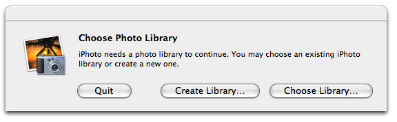 iPhoto '06 - Holding down the Option key brings up this dialog