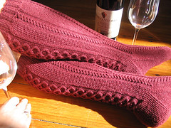 clessidra socks - knitty