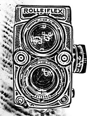 rolleiflex (jacob schere [in the 03 strategically planning]) Tags: camera collage analog digital photoshop print design stencil jacob communication printmaking lucid digitalcollage schere jacobschere lucidcommunication