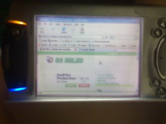 My PocketPC displaying 88 Miles via SideWindow