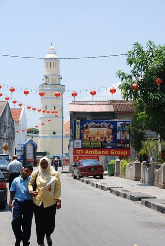 Mosque, Indian people, and Chinese lamps
