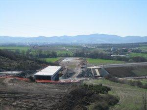 Obras del TAV en Luko. Cruce con la autopista Eibar-Gasteiz