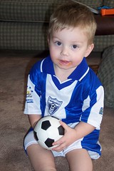 Nathan in Honduras soccer outfit (2)